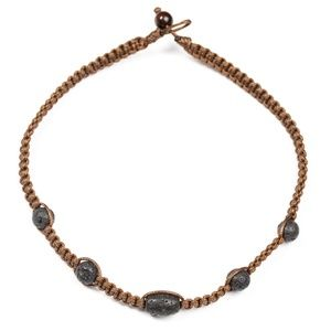 Lone Rock - Brown Necklace
